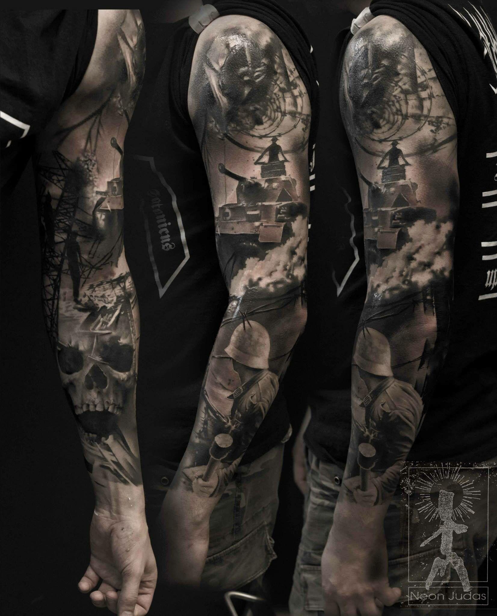 Badass Tattoo By Neon Judas Tatouage Gothique Pinterest
