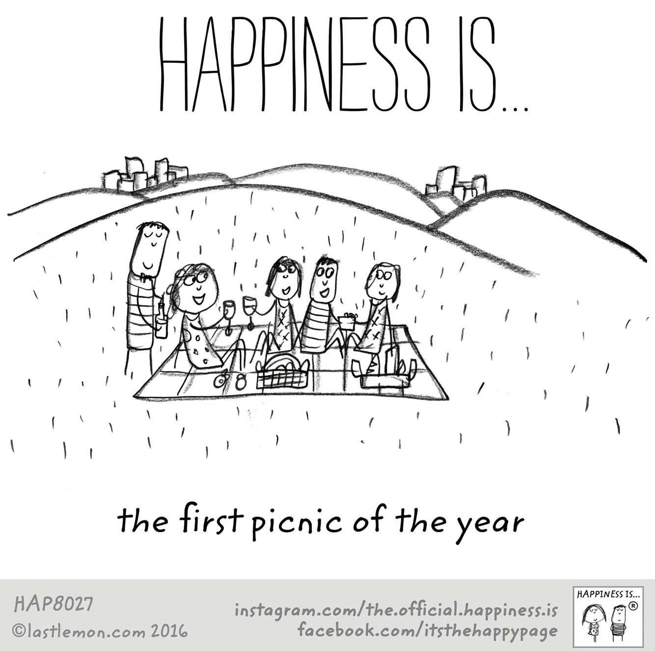 Happiness Is The First Picnic Of The Year Cute Happy Quotes Picnic Quotes Happy Quotes