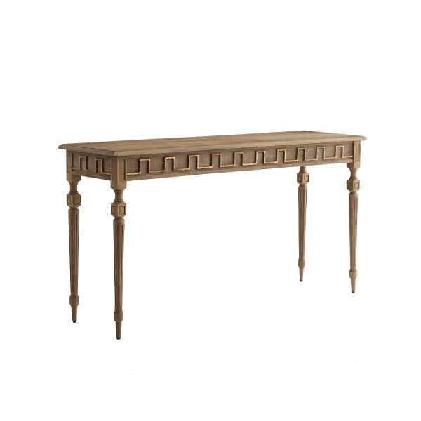 Golden Greek Key Console Table From Wisteria Lane $999.99