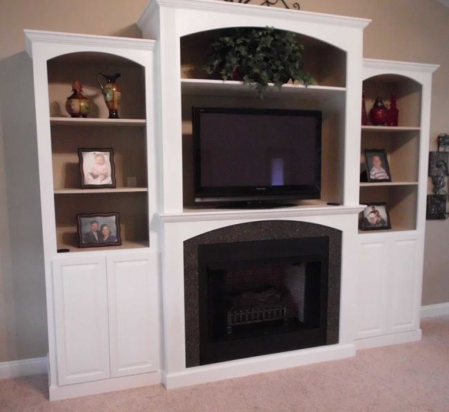 built in entertainment centers | With built in gas fireplace ...