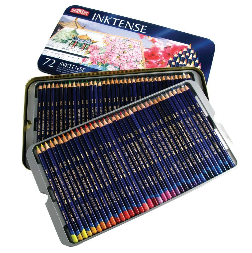 Just Finally Bought The Derwent Inktense 72 Tin On Amazon For 99 96 Cheapest I Ve Ever Seen It One Left Hard Derwent Inktense Colored Pencils Art Materials