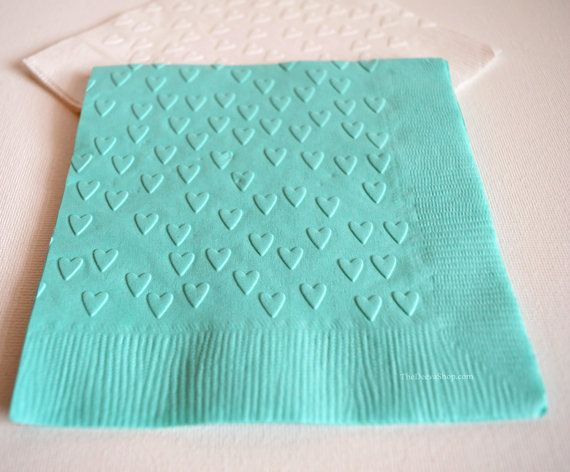 Tail Napkins Embossed Wedding Heart Tiffany Blue Paper Tyres2c
