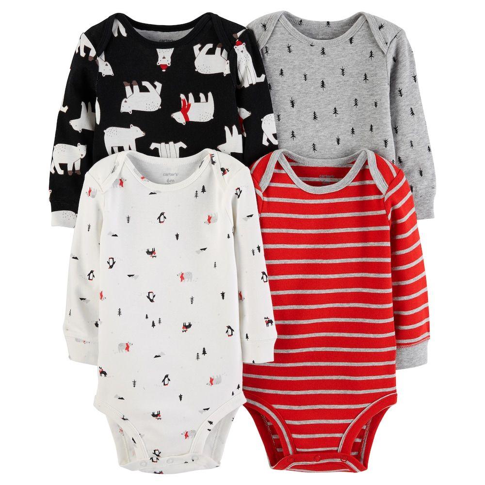 e016154c7 Carter s Baby Boy 4-pack Polar Bear Bodysuit Set