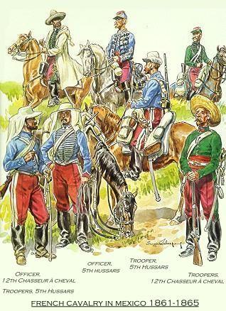 Cavalerie Francaise Au Mexique Dessin Histoire Mexique Armee Francaise