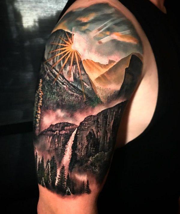 Photo of 40 idées de tatouage de paysage | Art et désign