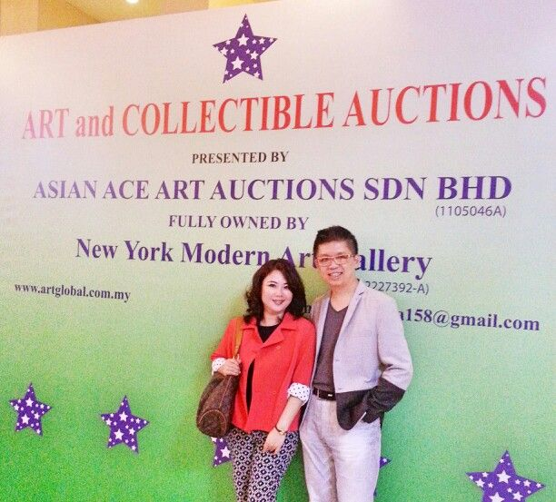 An afternoon of artsy journey ending with an art auction. Appreciation to our host for the special invite.  #art #experience #auction #NickG #weekendcouple #investment