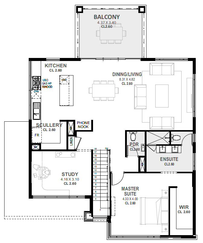 Grange Upside Down Perth Home For Rear Views Novus House With Balcony House Floor Plans Small House Plans