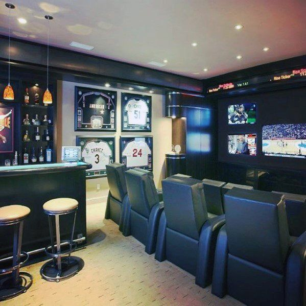 60 basement man cave design ideas for men manly home interiors rh pinterest com Rustic Man Cave Ideas Small Man Cave Ideas