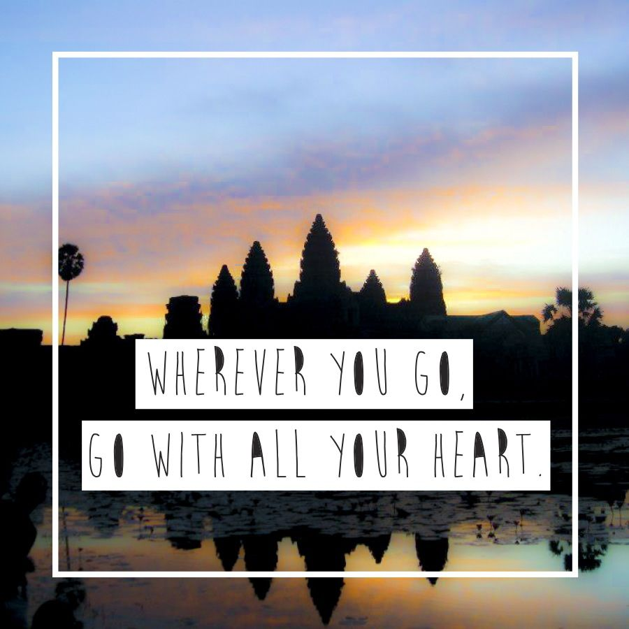 Travel quotes Angkor wat sunrise in Cambodia