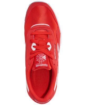 2b52e313b71 Reebok Boys  Classic Nylon Mu Casual Sneakers from Finish Line - CANTON RED  WHITE 5.5
