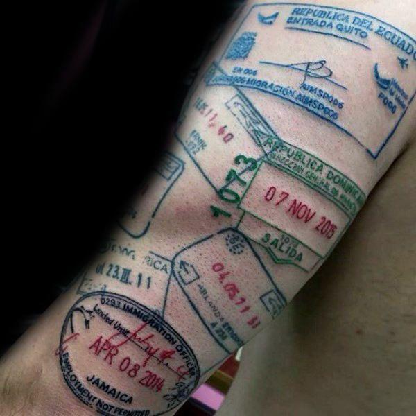c7693fa37dec1 75 Travel Tattoos For Men - Adventure Design Ideas | Tattoos ...