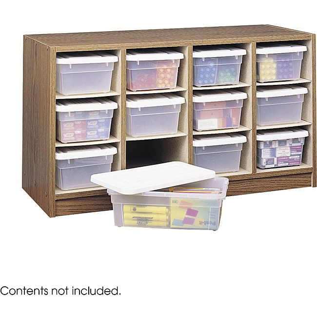 Beau Safco 12 Bin Laminate Finished Wooden Organizer (34 X 19 X 13D)