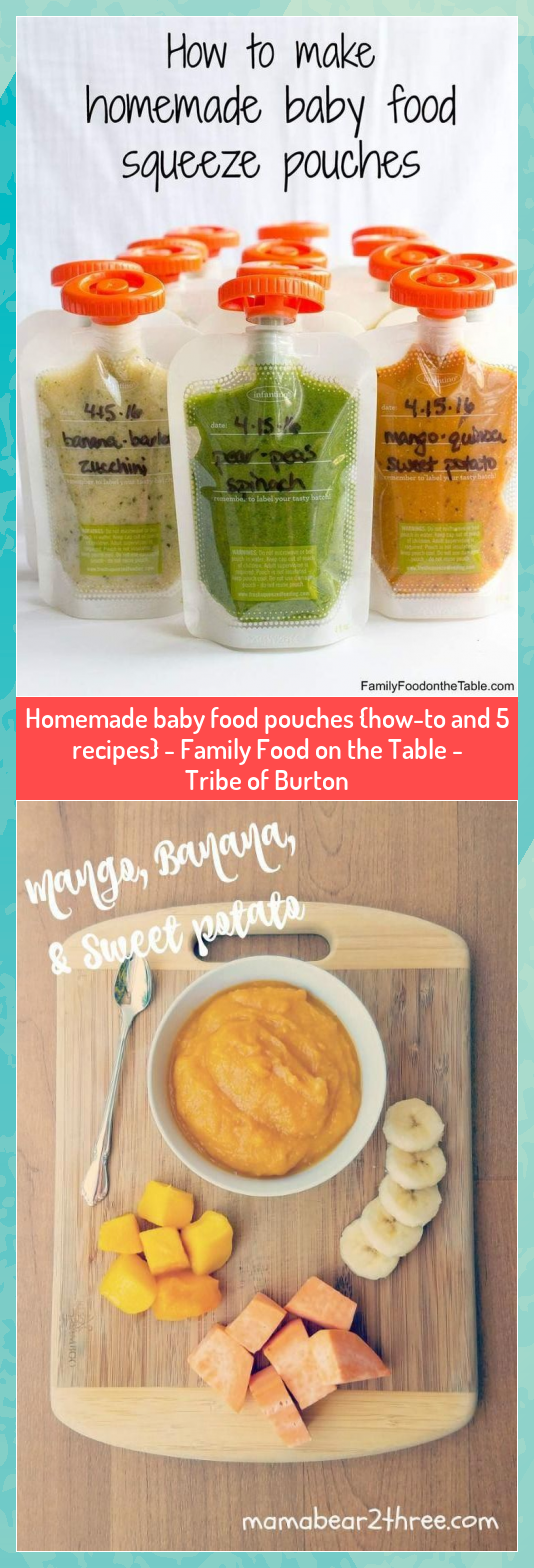 Homemade baby food pouches howto and 5 recipes  Family Food on the Table  Tribe of Burton
