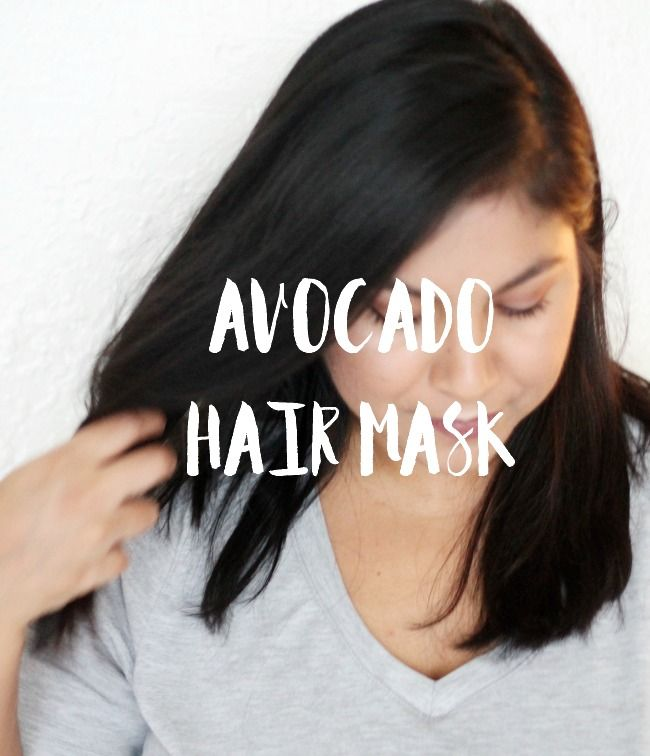 Avocado Hair mask with three simple ingredients.