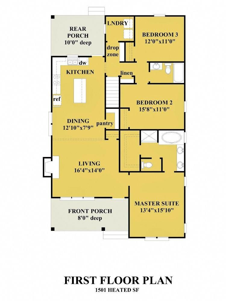 All House Plans Greenfield Cottage Greenfieldcottage Houses House Floor Plans Cottage House Plans Dream House Plans Yellow house floor plan