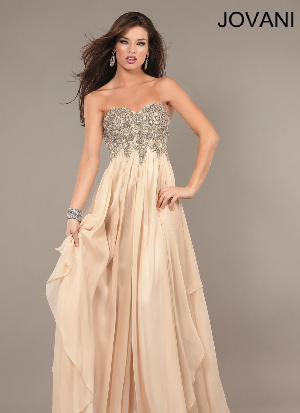Sequined Empire Waist Gown by Jovani Prom | JustProm #prom @Jovani ...