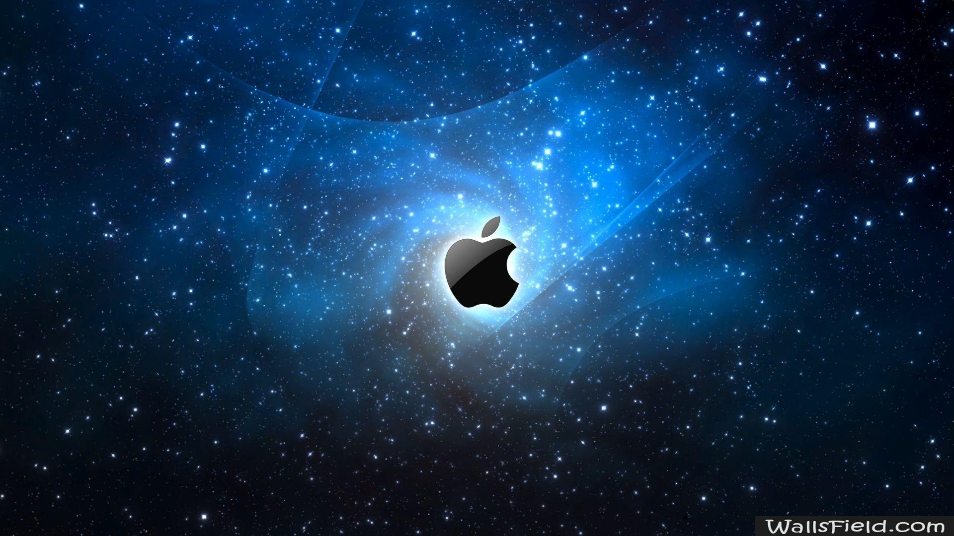 Apple Galaxy Blue Wallsfield Com Free Hd Wallpapers Imac Wallpaper Apple Wallpaper Apple Galaxy Wallpaper