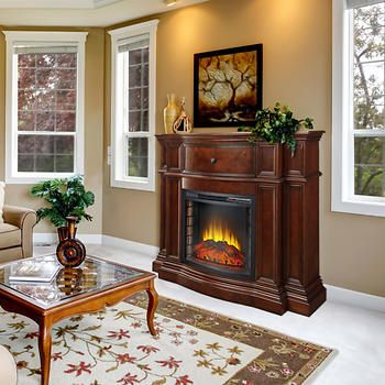 Pleasant Hearth Grayson Mantel Electric Fireplace | Home ...