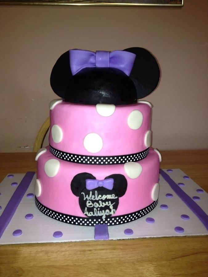 baby minnie mouse cake minnie mouse baby shower bavarian cream cakes