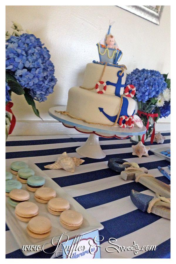 Nautical Baby Shower - Ruffles & Sweets. www.rufflesandsweets.com