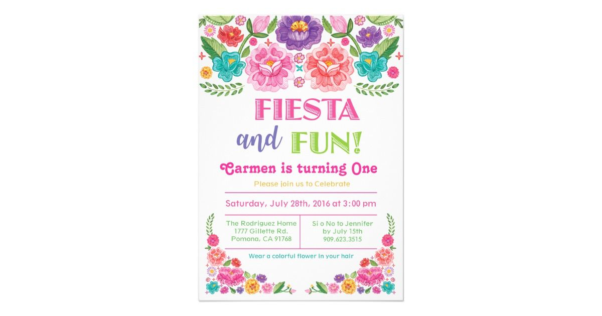 Any age fiesta birthday invitation zazzle oh baby pinterest any age fiesta birthday invitation zazzle stopboris Image collections