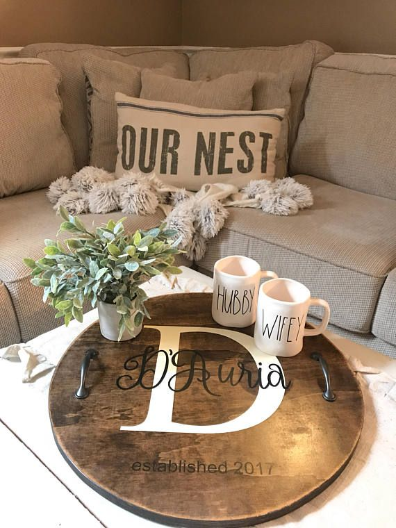 Diy Round Wood Trays With Handles