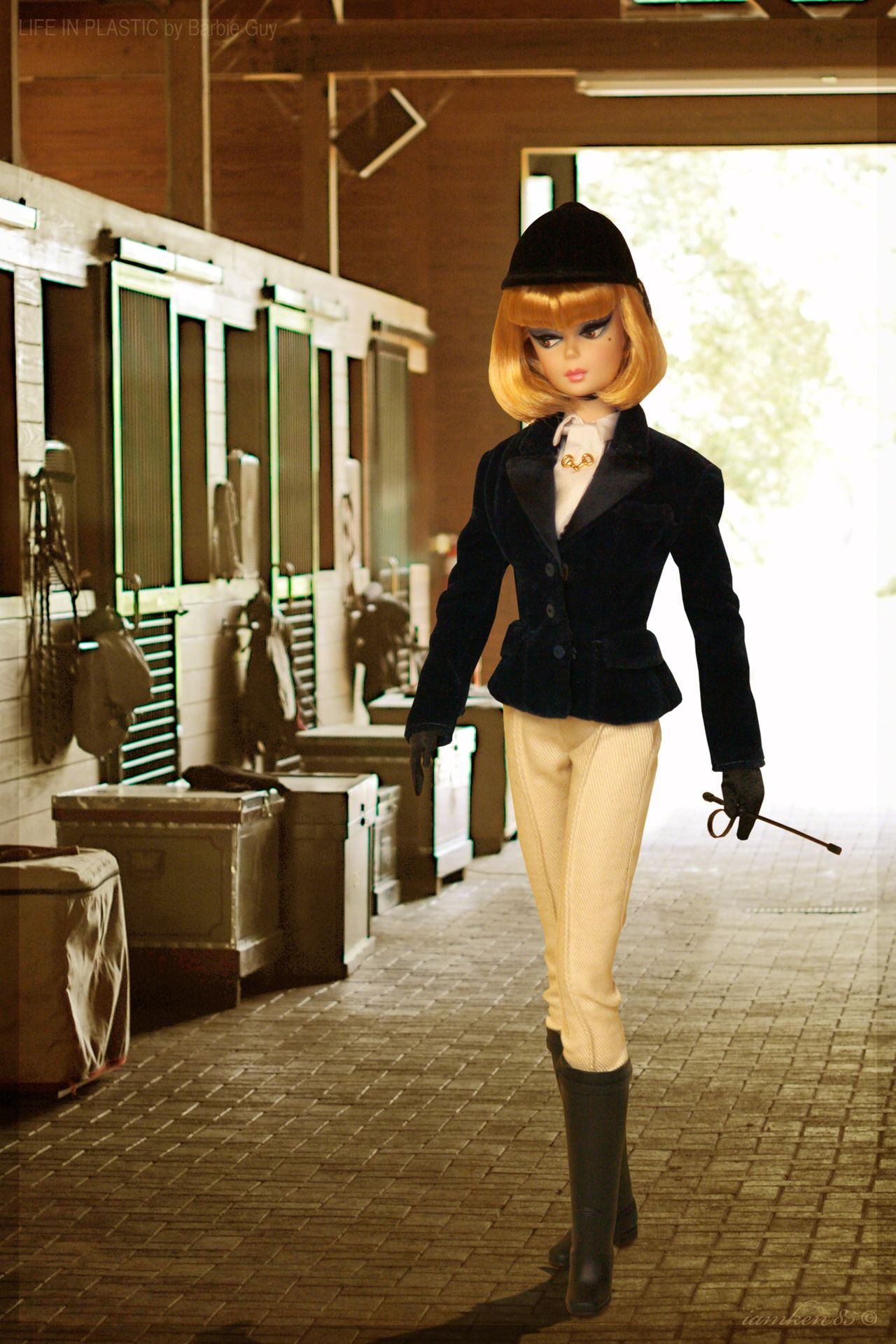 Equestrienne. In this photo: Afternoon Suit Barbie® doll wearing the BFMC High Stepping™ Barbie® Fashion.