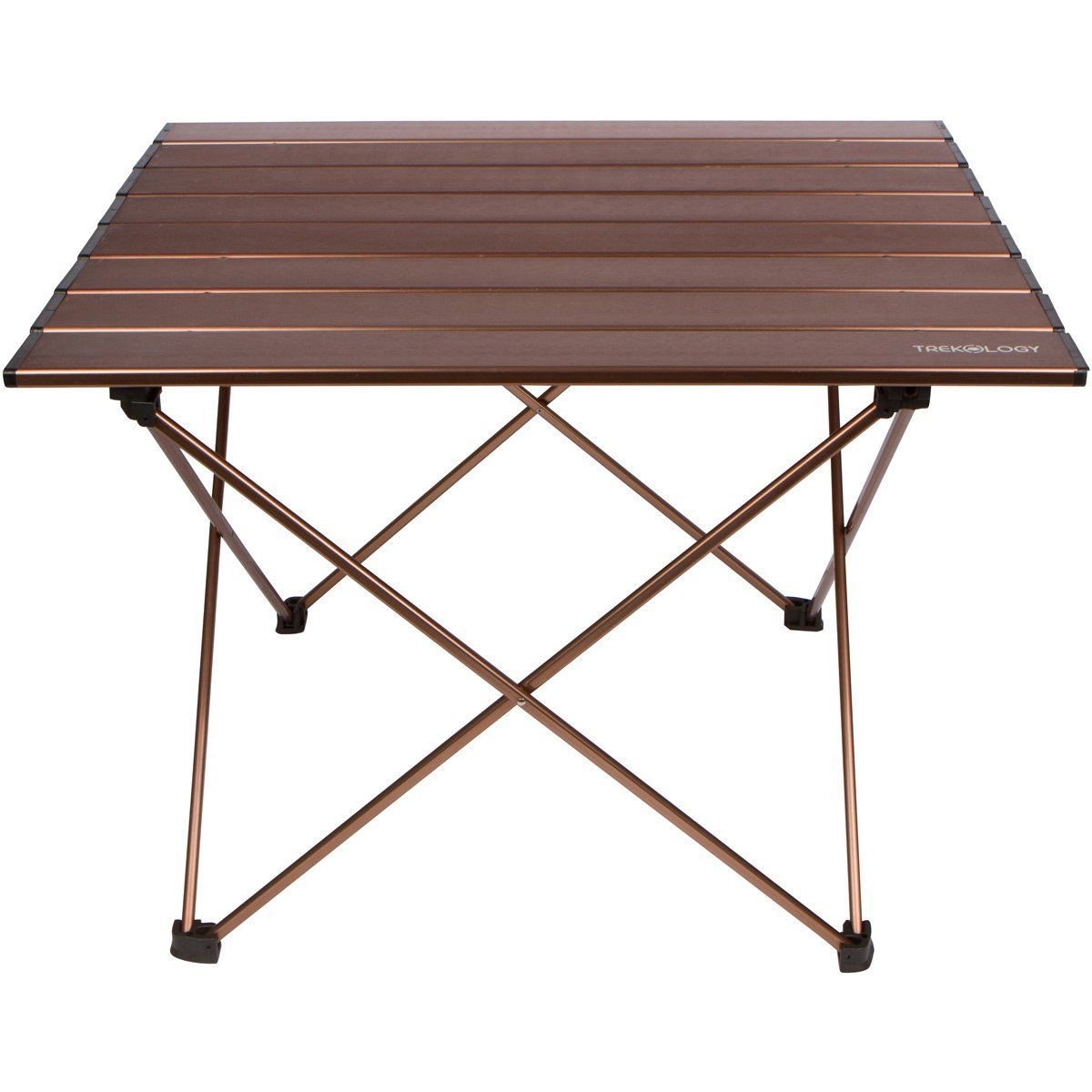 Trekology Camping Beach Table With Aluminum Table Top Portable Folding Table  In A Bag For Beach Picnic Camp Patio Fishing RV Indoor Brown Color ** Click  ...