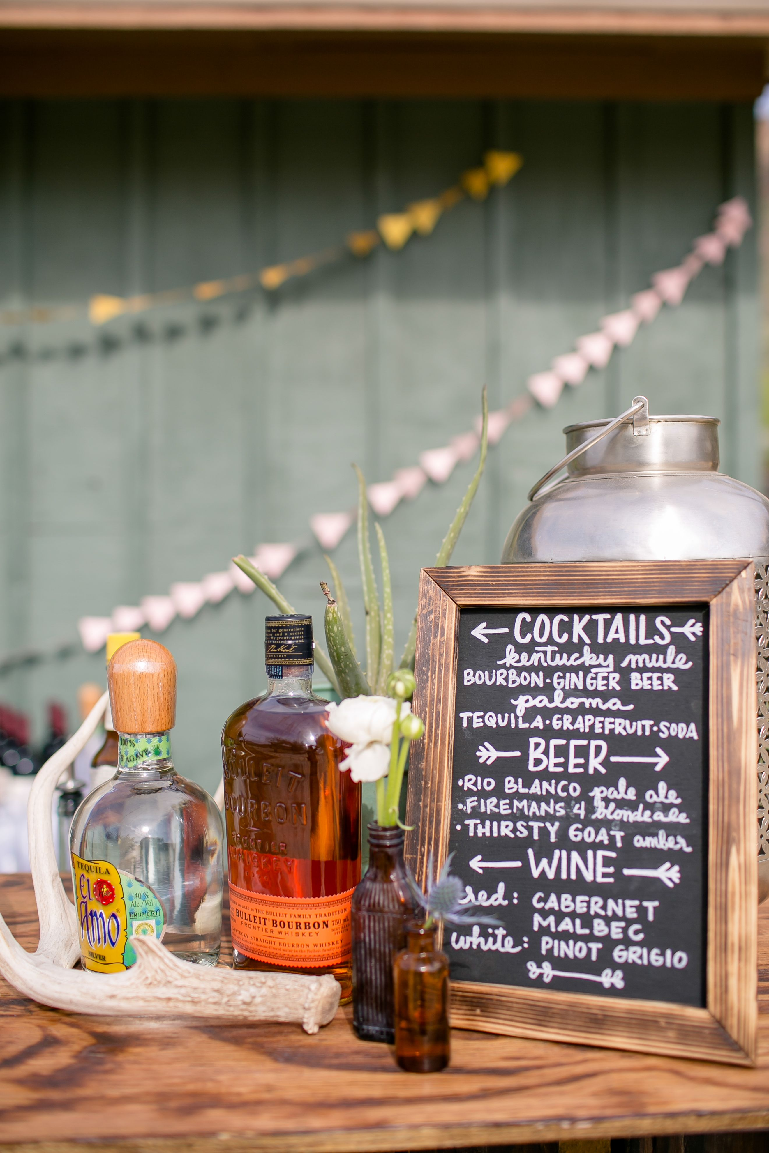 TexasInspired Cocktail Hour Menu Wooden wedding arches
