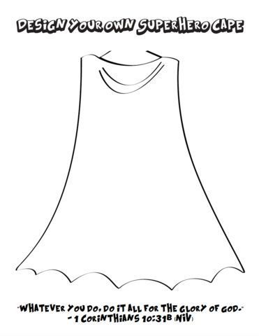 Free Design Your Own Superhero Cape Coloring Page For Kids Design Your Own Superhero Superhero Coloring Pages Superhero Coloring