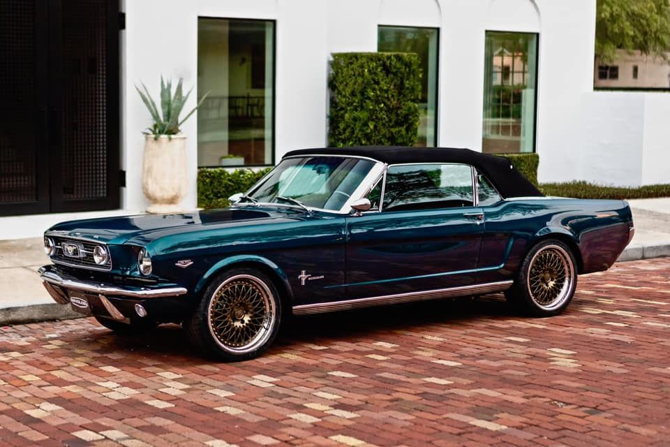 Revology 1966 Mustang GT Convertible on Forgeline LS3 Wheels