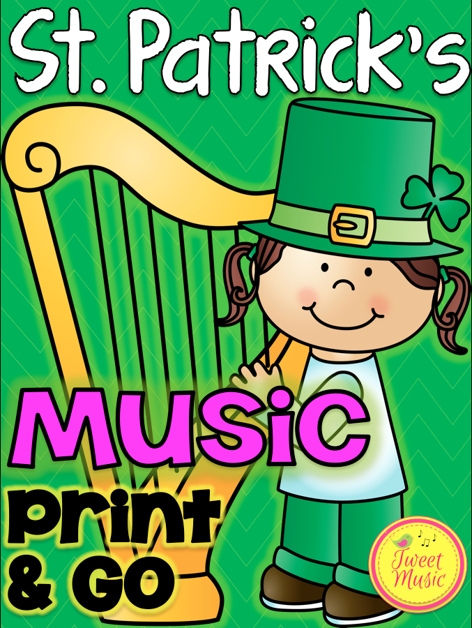 Music Printables- 28 different St. Patrick's Day worksheets for your music classroom. $