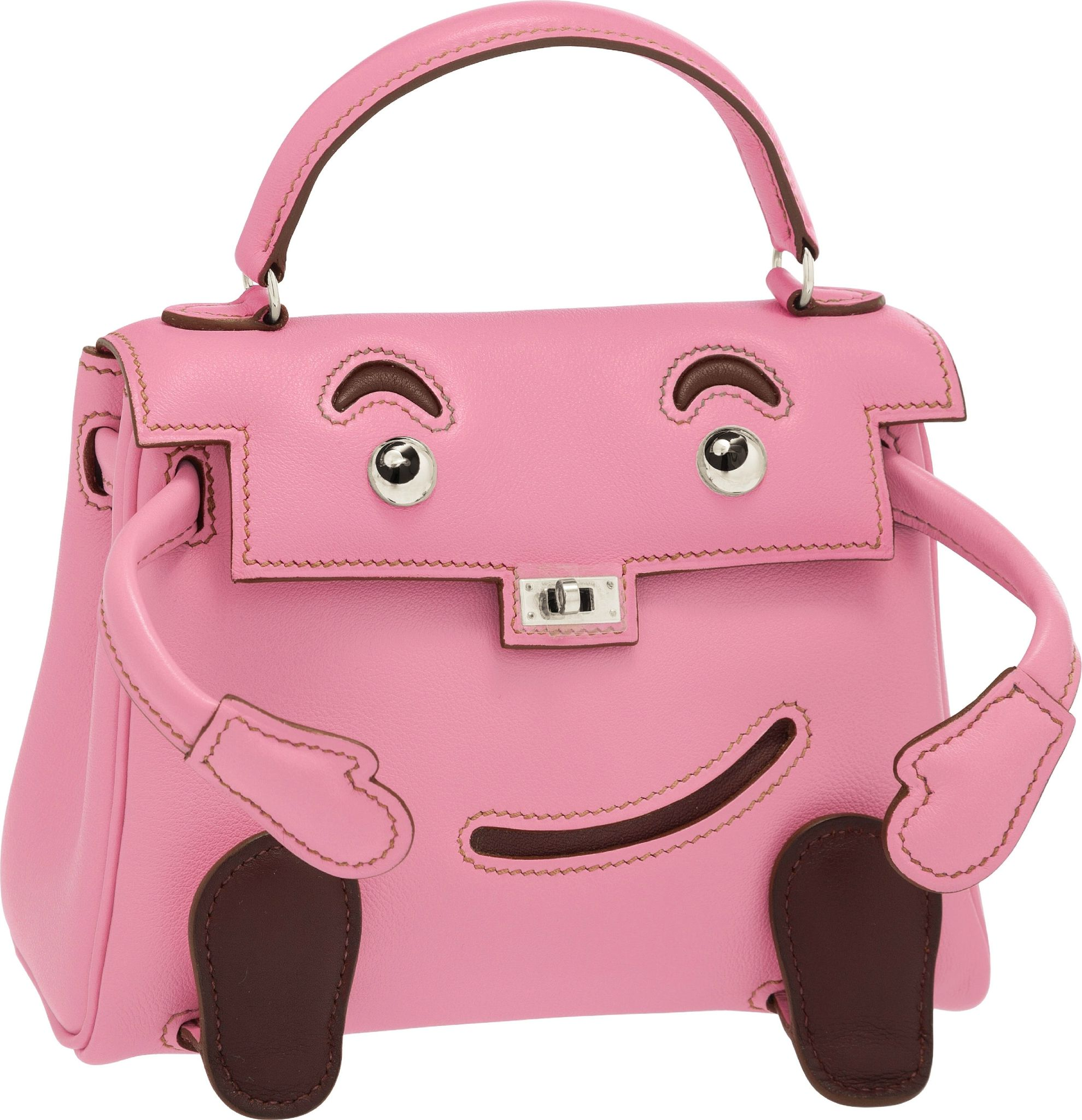 02743fe192ea Hermès Limited Edition 5P Bubblegum Pink Swift Leather Quelle Idole Kelly  Doll Bag with Palladium Hardware.