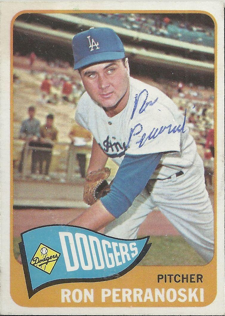 1965 Topps Ron Perranoski Autograph In 2020 Old Baseball Cards Baseball Cards Dodgers Baseball