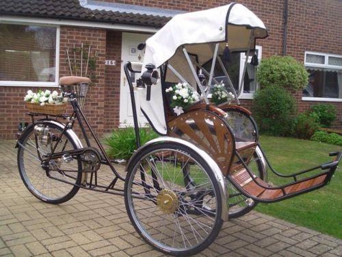 Vietnamese Rickshaw Wedding Hire Adverting Vintage Bike Pedicab