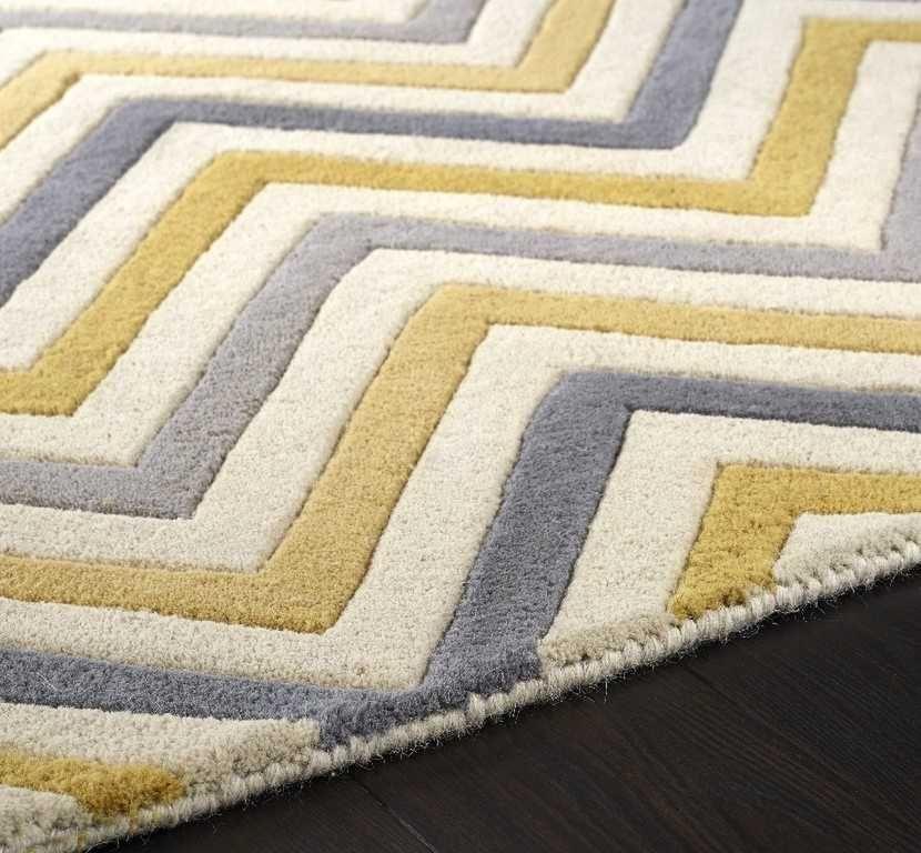 cabone yellow  grey rugs  modern rugs  pure wool rug