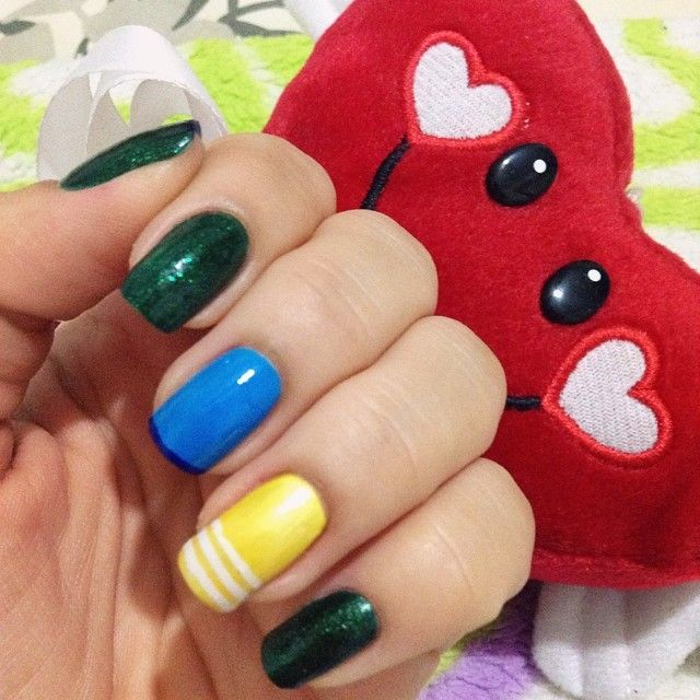 ❤️ #worldcupnails #copa2014 #braziliannails http://instagram.com/kah_ramos/