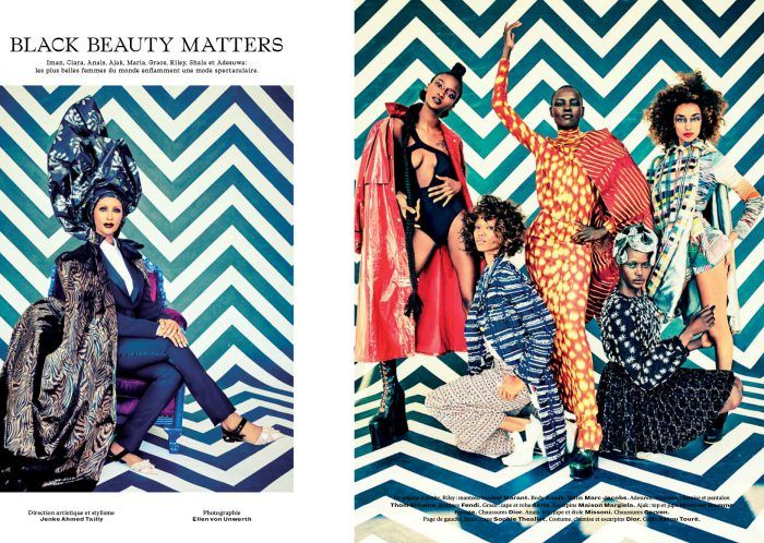 L'Officiel champions the forward African fashion perspective in their bold September issue.