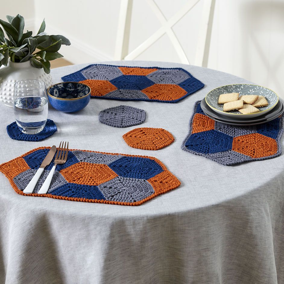 Flinders Placemats Coasters Project Crochet Store Crochet Projects Coaster Projects