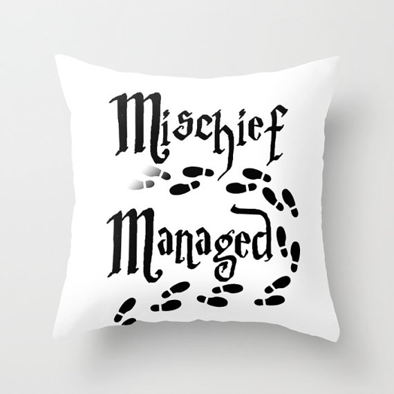 Check Out Mischief Managed Pillow Harry Potter Marauder39s Map