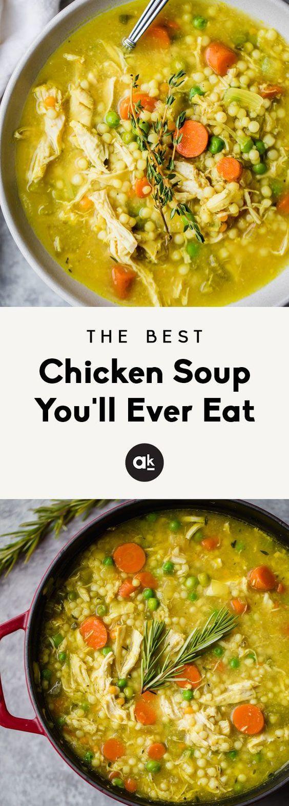 The Best Chicken Soup You'll Ever Eat #soupandsalad