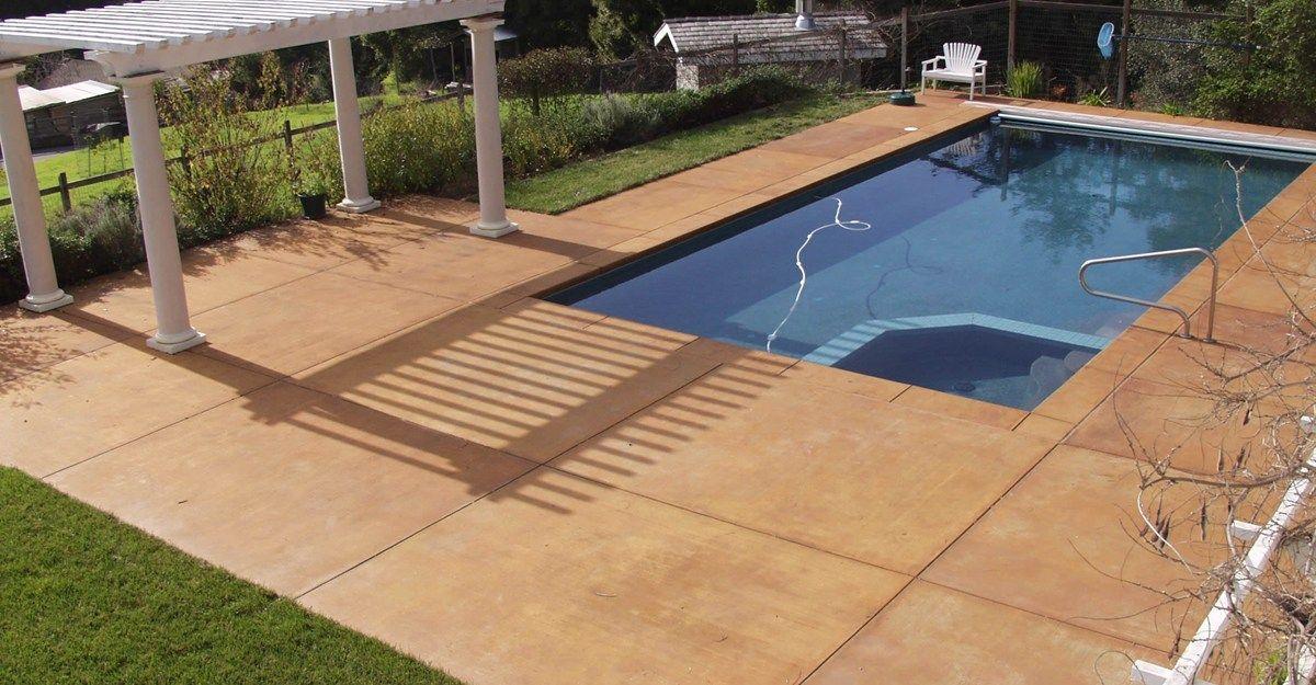 Smooth, Coffee Concrete Pool Decks Tom Ralston Concrete