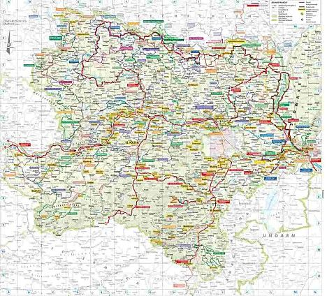 kerékpáros térkép ausztria Ingyenes kerékpár térkép: Alsó Ausztria   Sportpiac.hu Ingyenes  kerékpáros térkép ausztria
