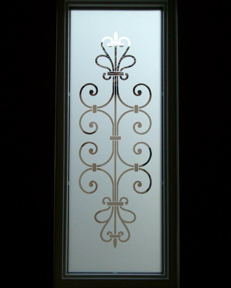 frosted glass entry window ironwork design- lovely lovely lovely for ...