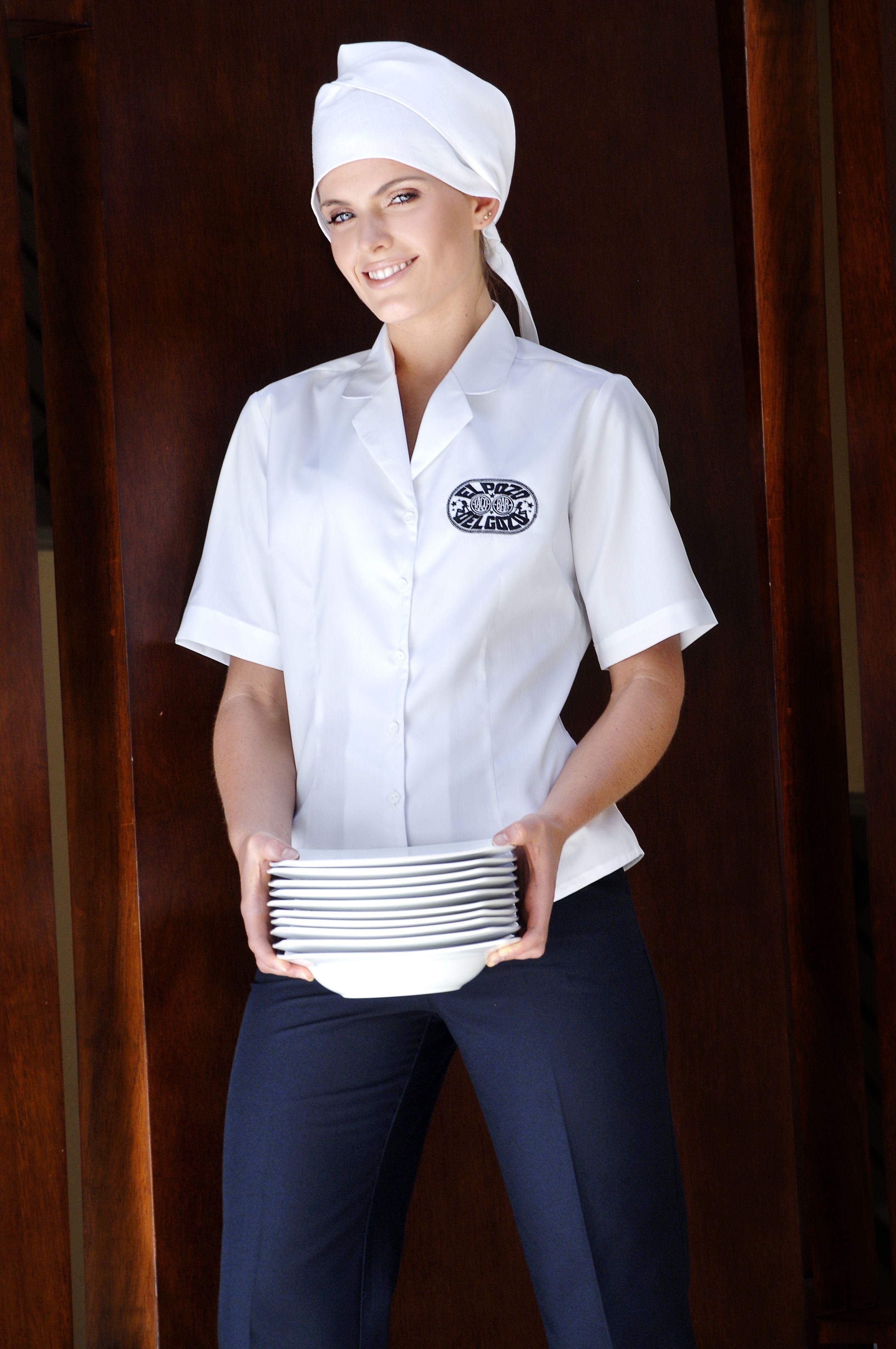 Pin de creaciones red en uniformes de mujer pinterest - Uniformes de cocina ...