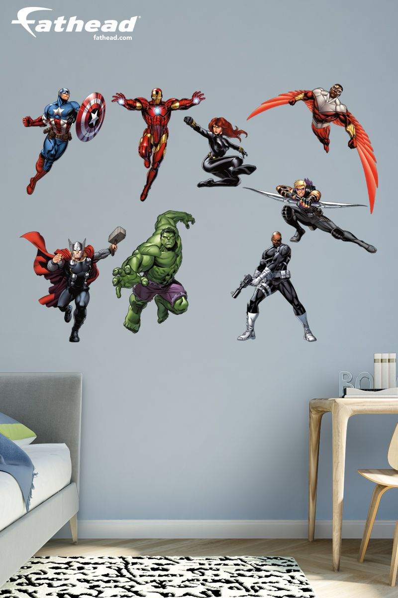Marvel S Avengers Assemble Collection X Large Officially Licensed Removable Wall Decals Superhero Boys Room Marvel Room Marvel Bedroom