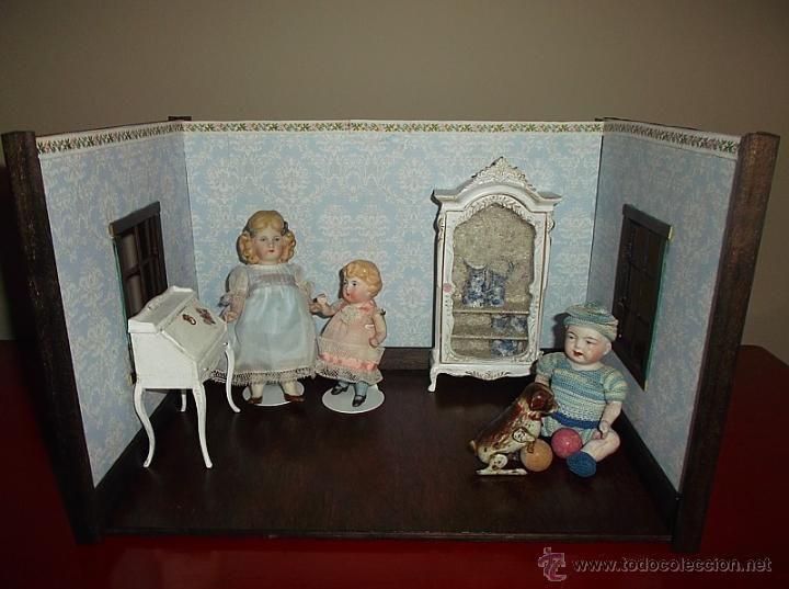 Salón o chambre de poupées para mignonettes o muñecas miniatura