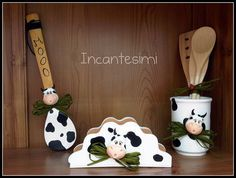 Nice Cow Accents For Kitchen Accessories (only Photo)