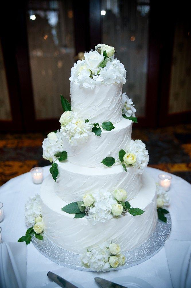 #Wedding Cake #White #Flowers #Reception #Candles
