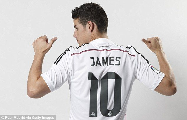 new arrival 85717 1cb36 James Rodriguez fever as Real Madrid sell 345,000 shirts in ...